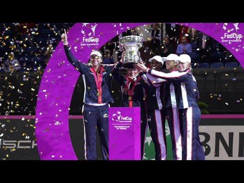 2017 Team USA Celebrates Fed Cup Win