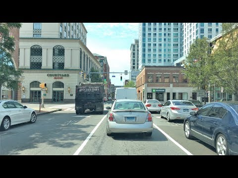 Driving Downtown - Stamford Connecticut USA