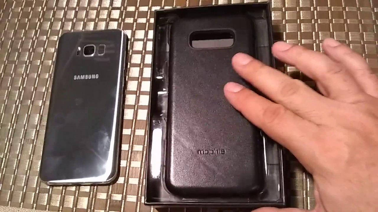 the latest 60beb 88261 Mophie Charge Force Case & Powerstation mini unboxing Samsung Galaxy S8 Plus
