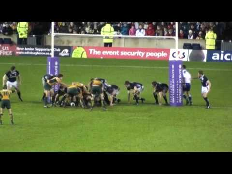 Final moments of Wallabies Vs Scotland at Murrayfield Nov 21 2009