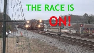 THE RACE IS ON! NS 994 & 153 Battling it Out with the Horns in Austell, GA
