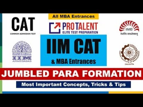 CAT Strategy and Tricks to solve Para Jumble I ProTalent CAT Approach