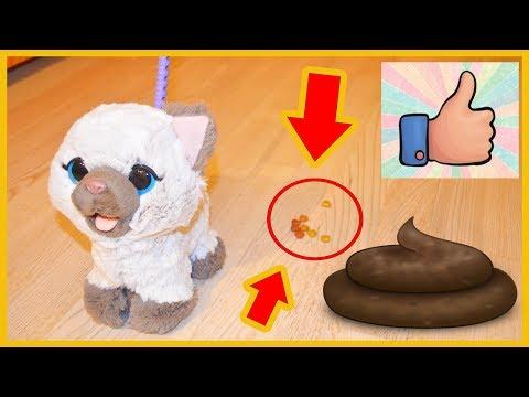 Распаковка FurReal Friends Интерактивная игрушка кошка кушает и какает! ОБЗОР Фуриал Френдс котенок
