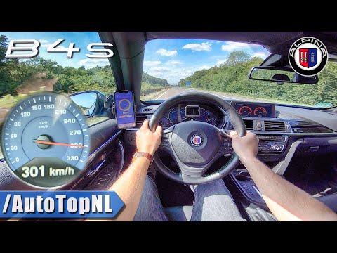 BMW Alpina B4S BiTurbo 301km/h On AUTOBAHN (No Speed Limit) By AutoTopNL
