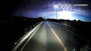 Giappone, meteora illumina il cielo di notte: il bolide ripreso da un automobilista