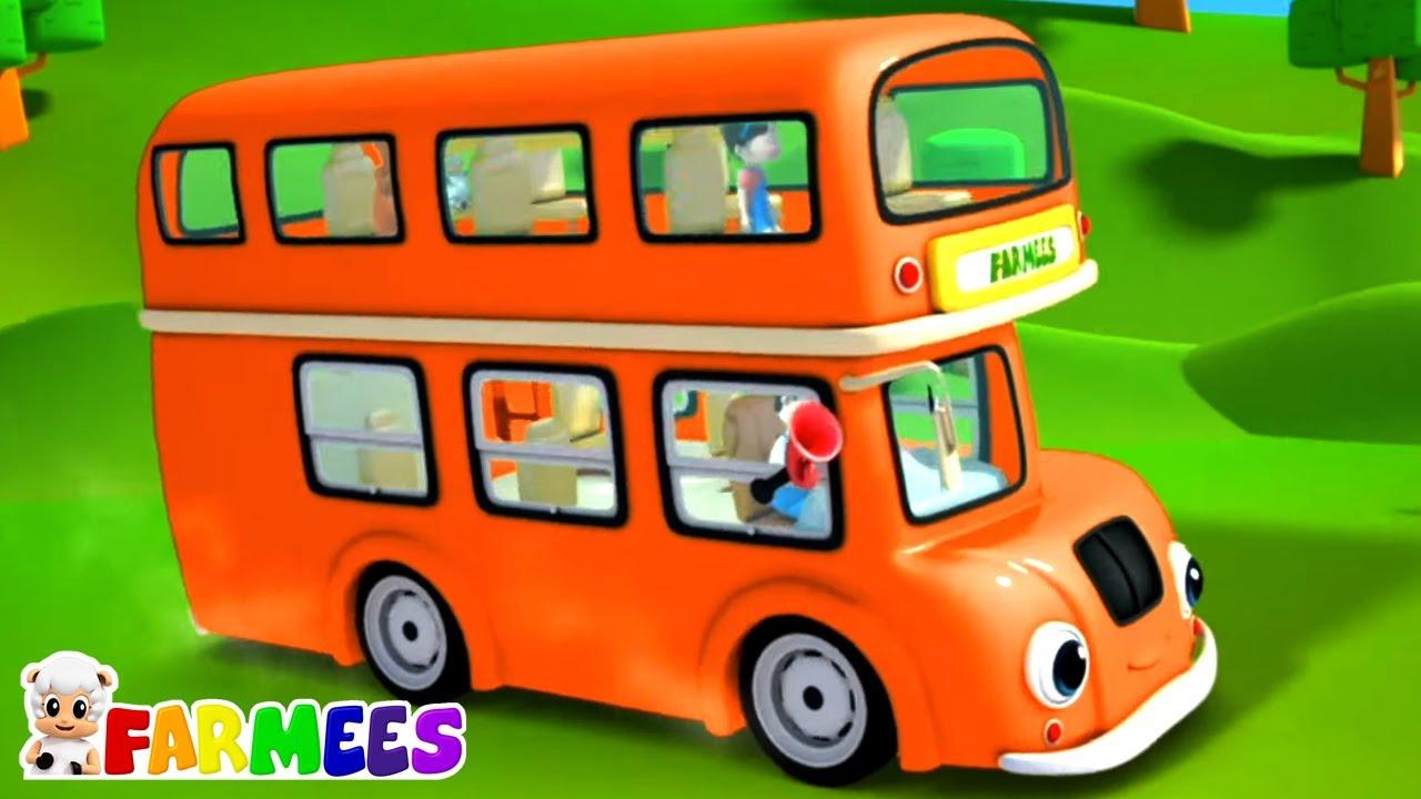 Ruedas en el bus   Rimas para niños   Farmees Español   Dibujos animados   Canciones infantiles