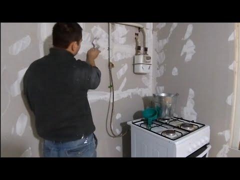 Дом в деревне / ремонт  в доме  Отделка стен гипсокартоном /