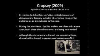 """Analysis of """"Cropsey"""" (2009)"""