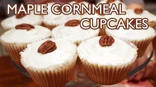 Maple Cornmeal Cupcakes With Maple Butter Frosting