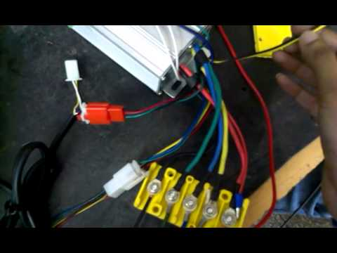 Dc Motor Wiring Diagram Bldc Motor Controller Demo Video Part 1 Youtube