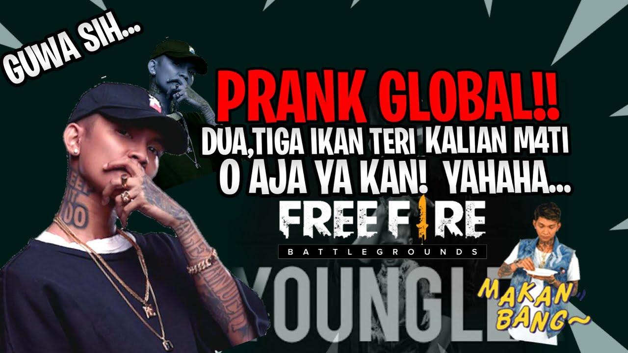 🔥 FREE FIRE - PRANK GLOBAL NYAMAR JADI YOUNG LEX!! O AJA YA KAN!!! LEGEND OF HIRO FF