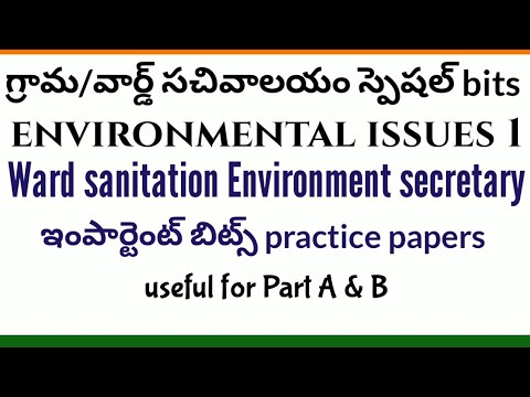 Ward sanitation environment secretary important practice bits sachivalayam environmental issues