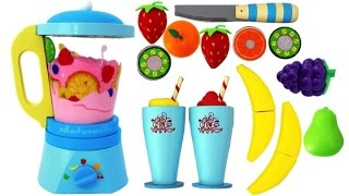 Toy Blender Playset Learn Fruits & Vegetables with Wooden Velcro Toys for Kids