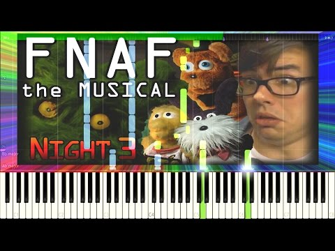 FNAF:The Musical - Night 3 ft. NateWantsToBattle (by Random Encounters) [Synthesia Piano Tutorial]