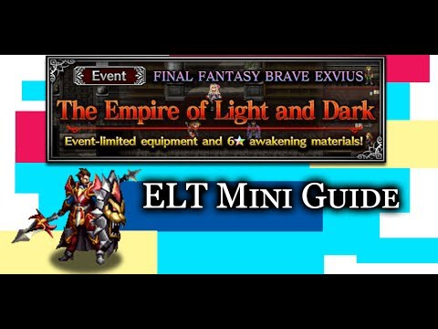 [FFBE] Wilhelm ELT [MINI GUIDE] 4 MAN + LB Clear