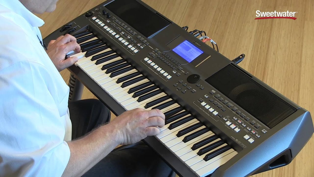 Yamaha PSR S670 Arranger Keyboard Workstation Demo By