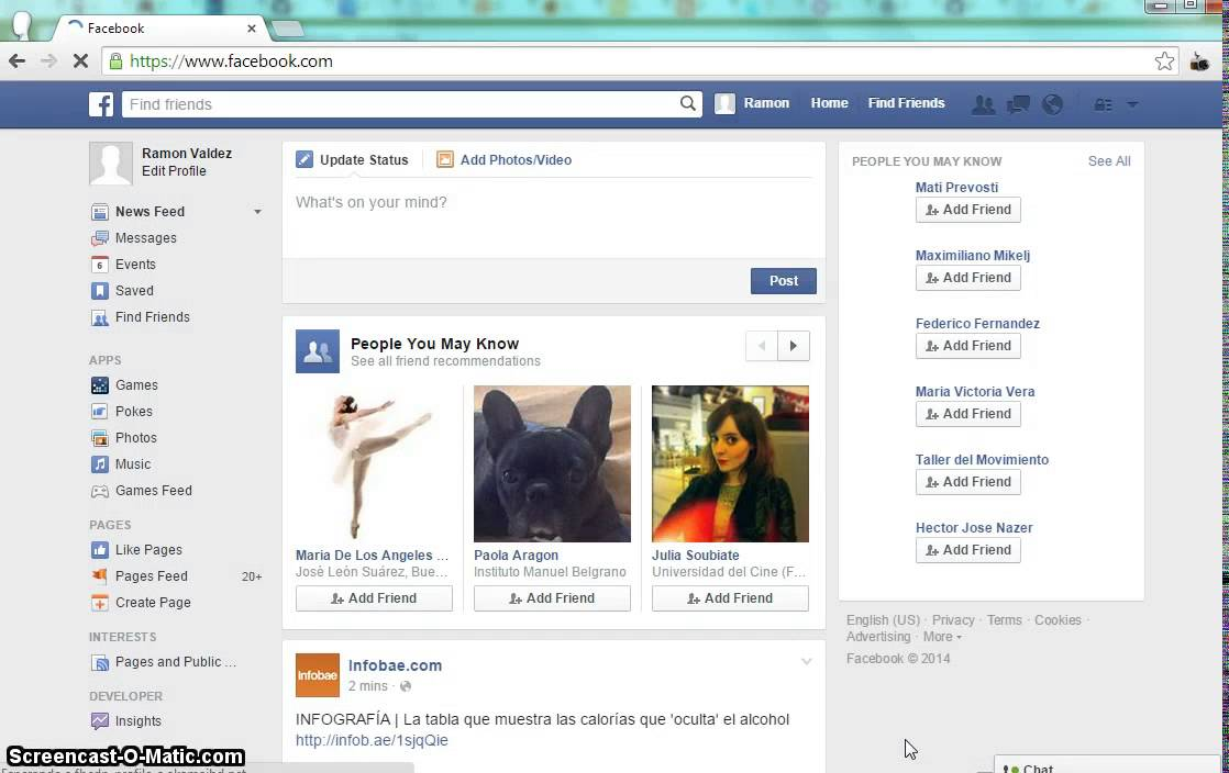 Facebook españoll
