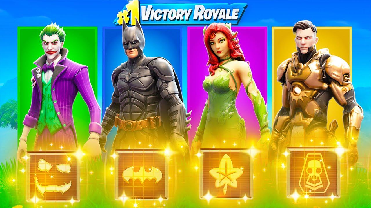 The RANDOM BOSS Challenge in Fortnite (Joker, Batman, Ivy & Midas Rex)