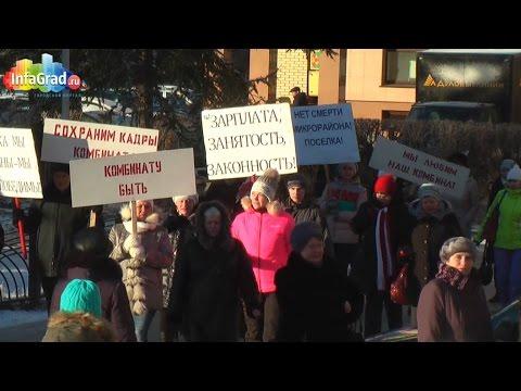 В центре Архангельска прошел пикет сотрудников Соломбальского ЛДК
