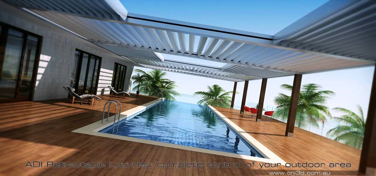 Retrac Louvres Swimming Pools