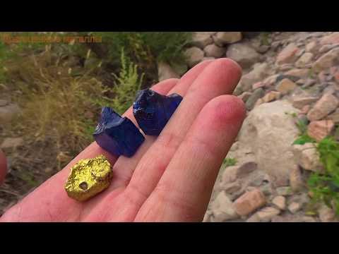 Камень синий шпинель вверху добывают