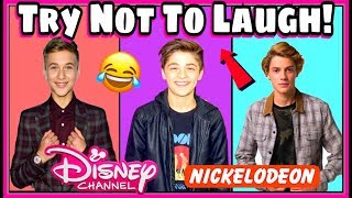 Try Not To Laugh Challenge Nickelodeon & Disney Boys Edition   Funniest Musical.ly 2017