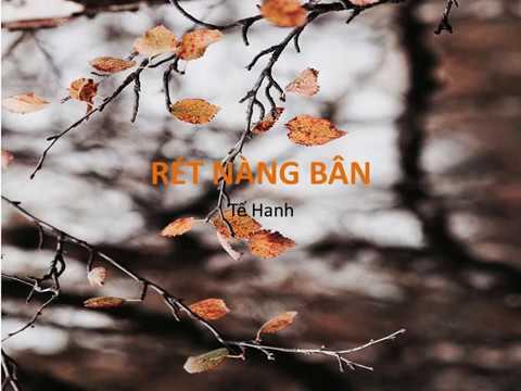 Bài thơ: RÉT NÀNG BÂN (Tế Hanh)