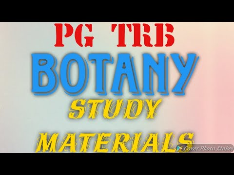 PG TRB- BOTANY PART-1