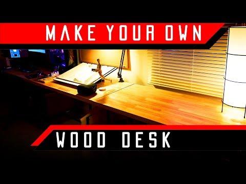 DIY Butcher's Block Studio Desk