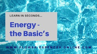 Energy-the Basics