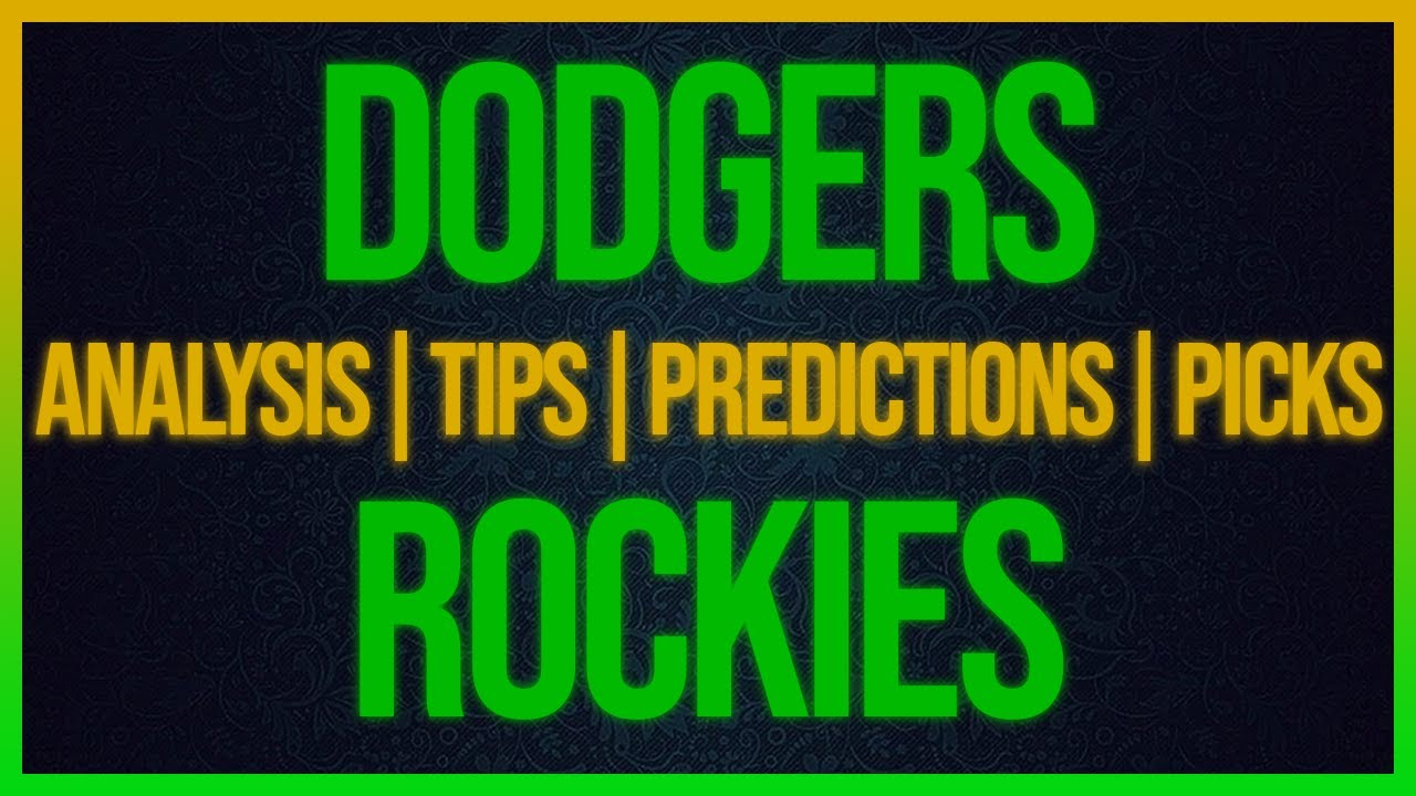 Los Angeles Dodgers at Colorado Rockies odds, picks and prediction