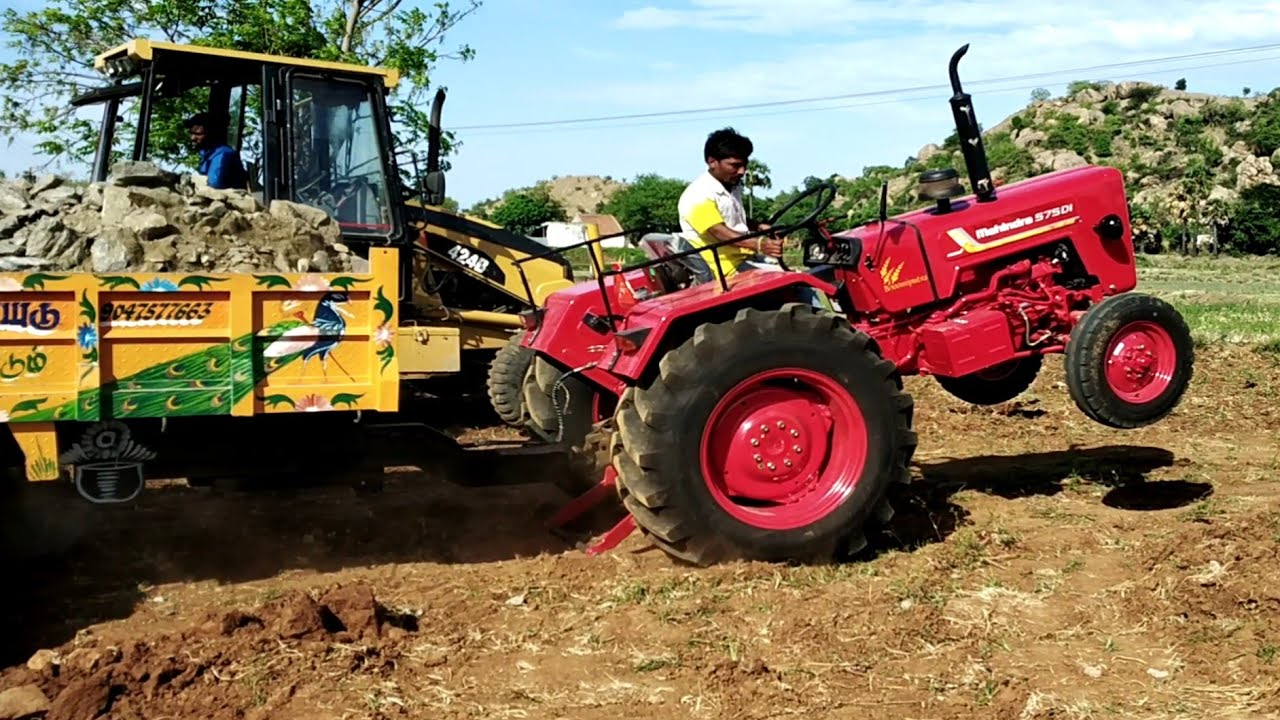 Mahindra 575 di power plus | Mahindra Tractor with full loaded trolley -  Come From Village
