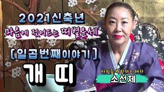 [개띠운세]2021신축년개띠운세,안산무당,소선제,신점,작두굿