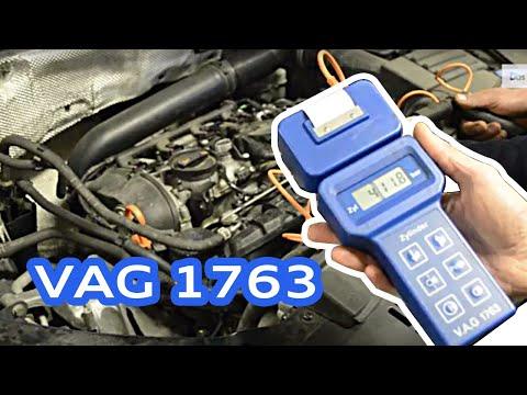 Измерване компресия на TFSI двигател с оригинален инструмент VAG 1763