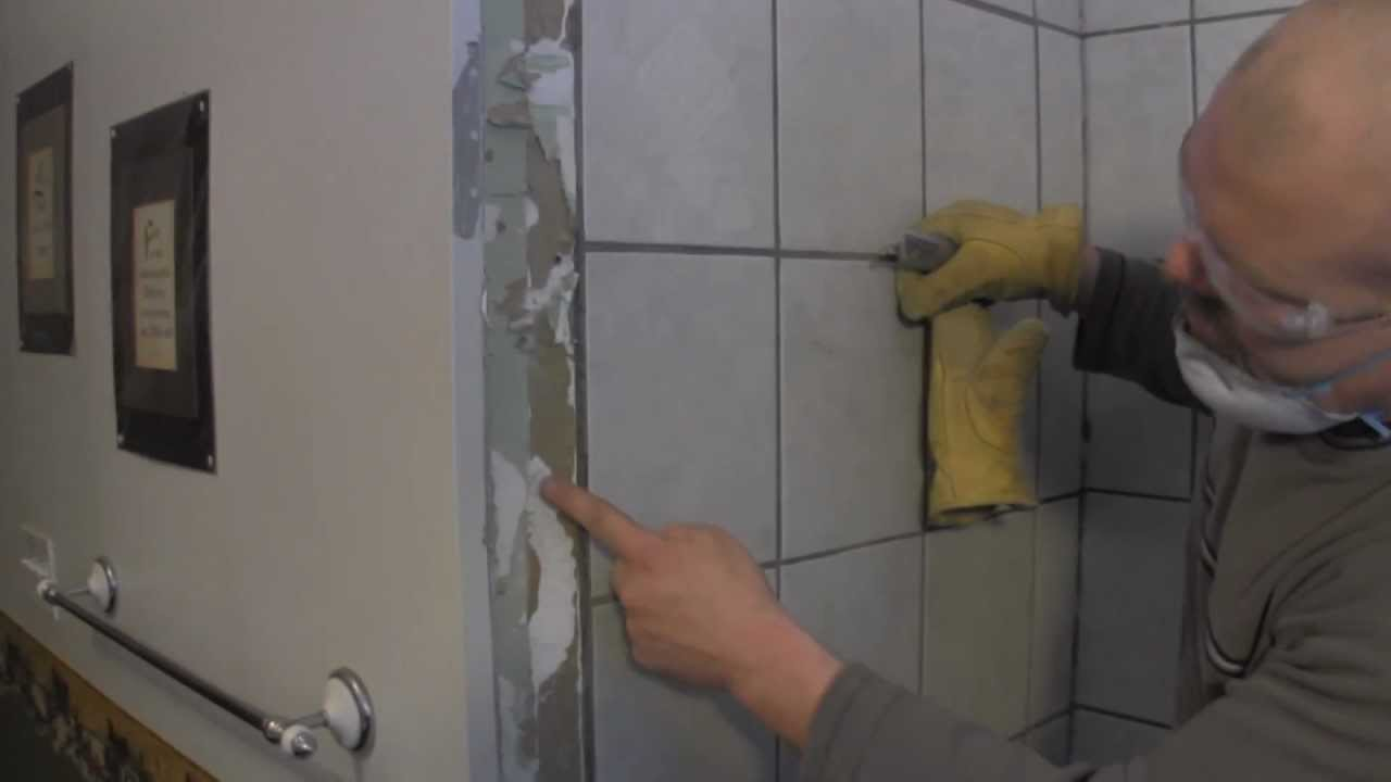 How to Tile a shower Wall-Tile Demo of the shower walls - YouTube