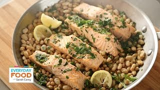 Steamed Salmon with White Beans - Everyday Food with Sarah Carey