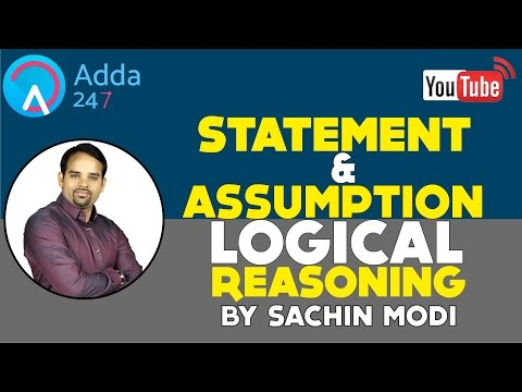 Statement and Assumption Tricks and Techniques || Logical Reasoning || By Sachin Modi
