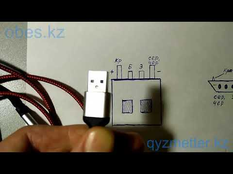 Контакты Usb кабеля по цветам плюс - минус, устройство. (ремонт)