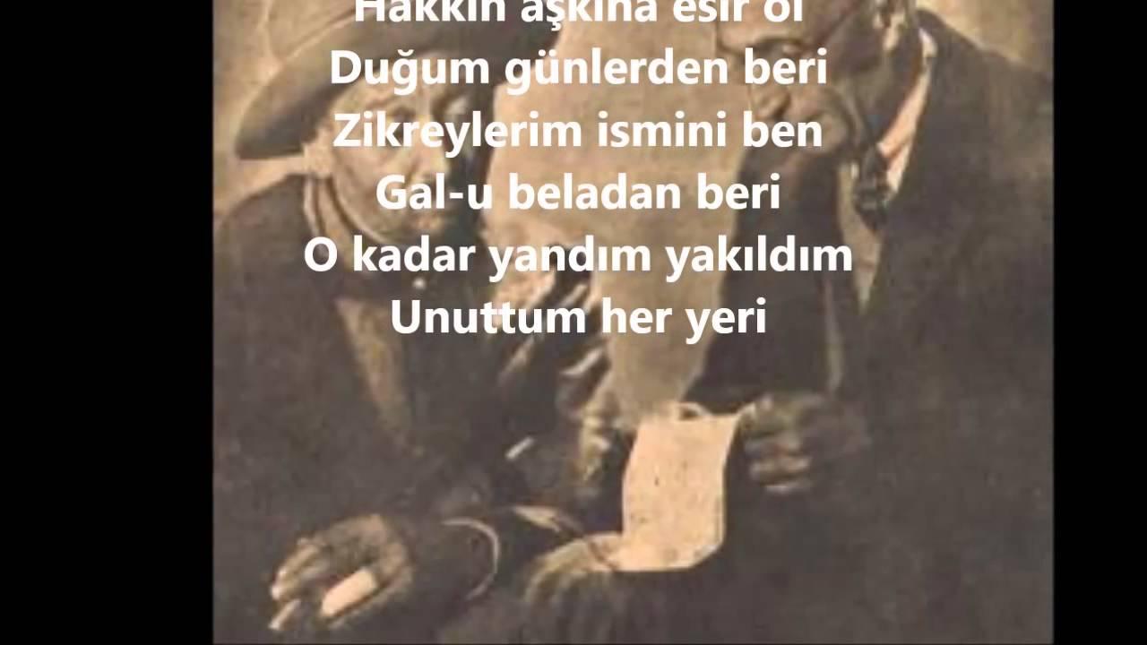 Neyzen Tevfik şiirleri Youtube
