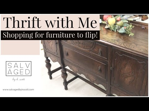 THRIFTING FOR FURNITURE | THRIFT WITH ME | FURNITURE FLIPPING