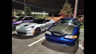 Procharged C7 Corvette vs Turbo Mustang