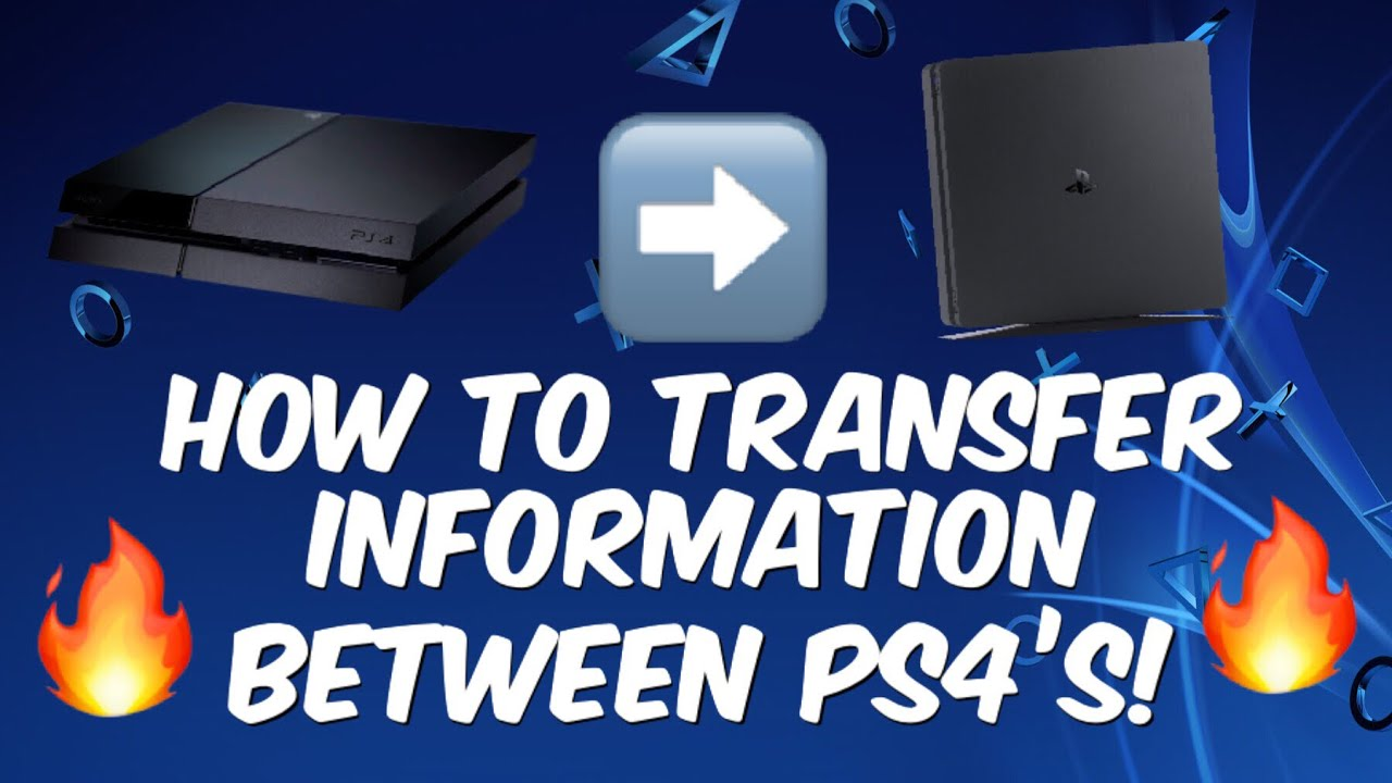 How To Transfer Ps4 Data To New Ps4 Ps4 Pro Ps4 Slim Etc Youtube