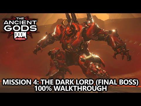 DOOM Eternal Ancient Gods 2 - Mission 4 - 100% Walkthrough - All Codex, Upgrades, & Extra Lives  