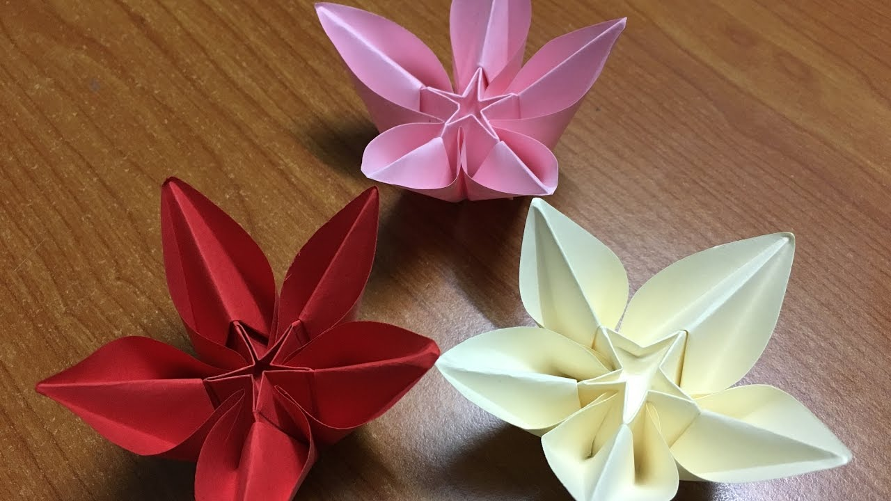 carambola flower origami diagram fios phone wiring how to make carmen diy tutorial youtube