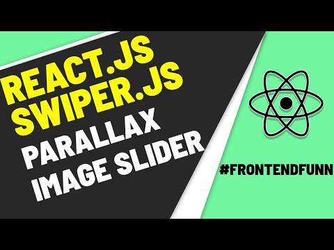 React Swiper Slider - Parallax Image Slider