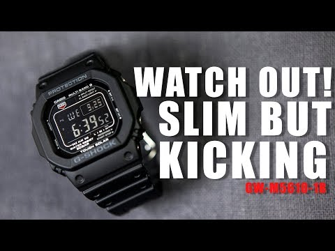 SLIM BUT KICKING ! G-SHOCK GW-M5610-1B - UNBOXING , REVIEW & ADJUSTMENT TUTORIAL