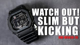 sLIM BUT KICKING ! G-SHOCK GW-M5610-1B - UNBOXING , REVIEW & ADJUSTMENT TUTORIAL