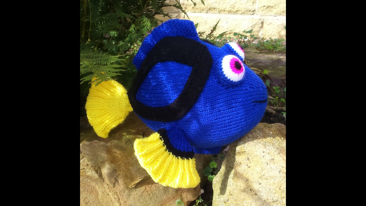 Dory the blue tang fish knitting pattern is now on Ravelry, Etsy and ...