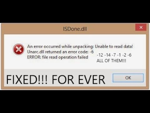 Fix for ISDone.dll Unarc.dll errors with game installations 100% WORKS!!! - YouTube