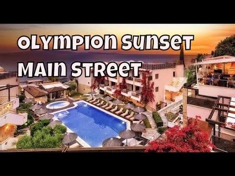olympion-sunset-main-street,-fourka,greece